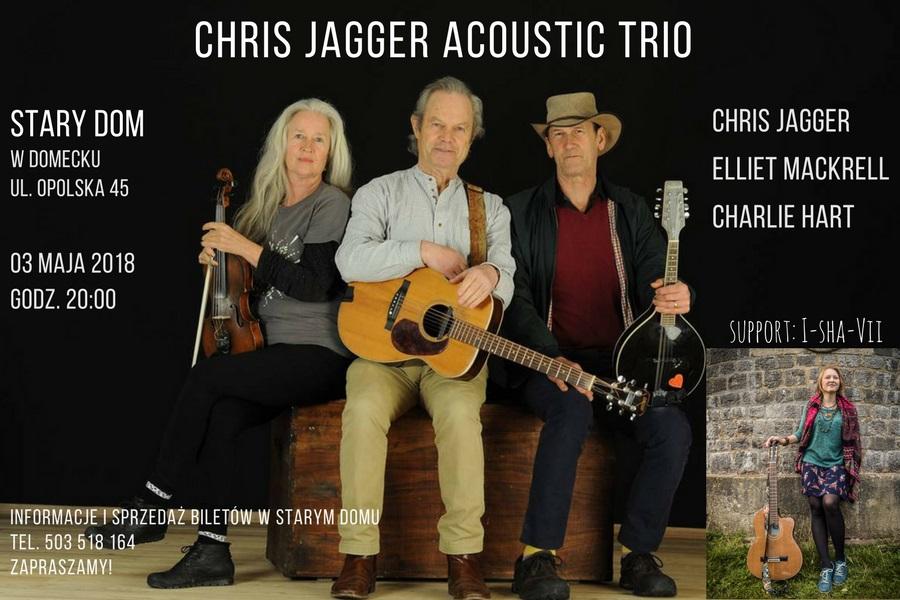 Trio Chrisa Jaggera zagra na Opolszczyźnie dwa koncerty! [materiały organizatora]