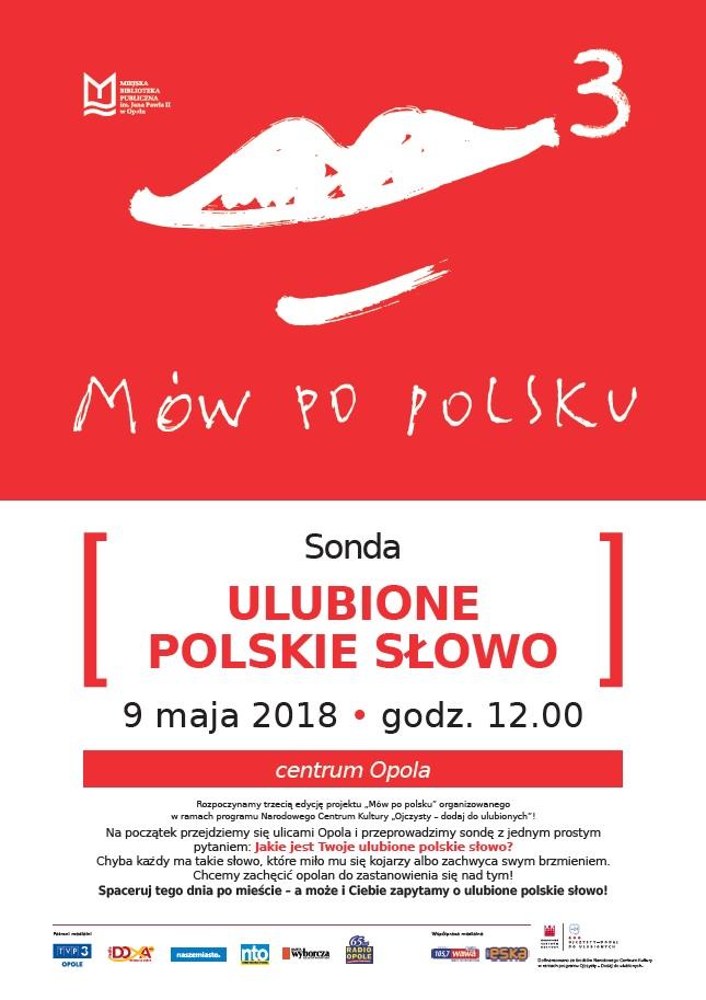 """Galeria ulubionych słów opolan i inne akcje w ramach """"Mów po polsku"""""""