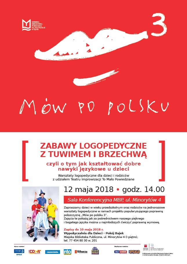 """Akcja """"Mów po polsku"""" odbywa się w ramach programu Narodowego Centrum Kultury """"Ojczysty – dodaj do ulubionych"""""""