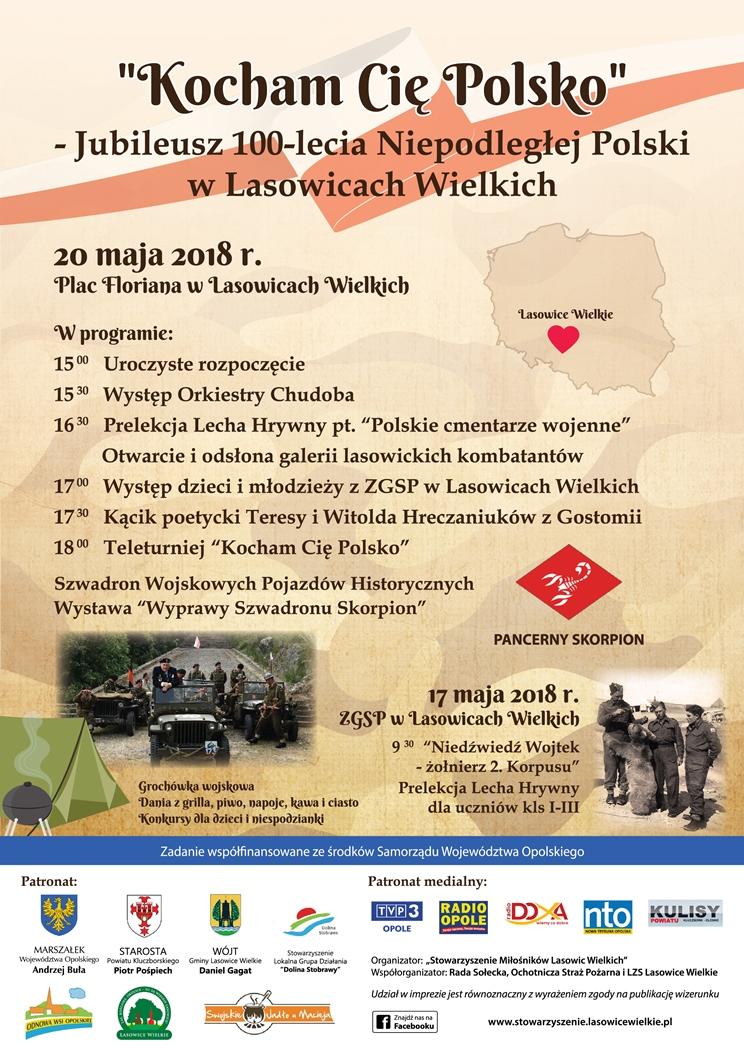 Lasowice Wielkie uczczą jubileusz 100-lecia Niepodległej Polski
