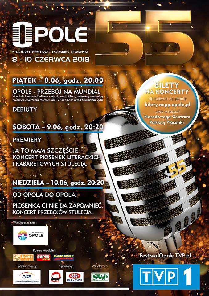 55. Krajowy Festiwal Polskiej Piosenki – zobacz program i słuchaj Radia Opole!