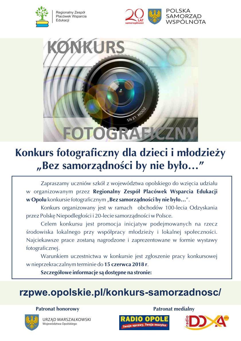 'Bez samorządności by nie było…' - weź udział w konkursie fotograficznym