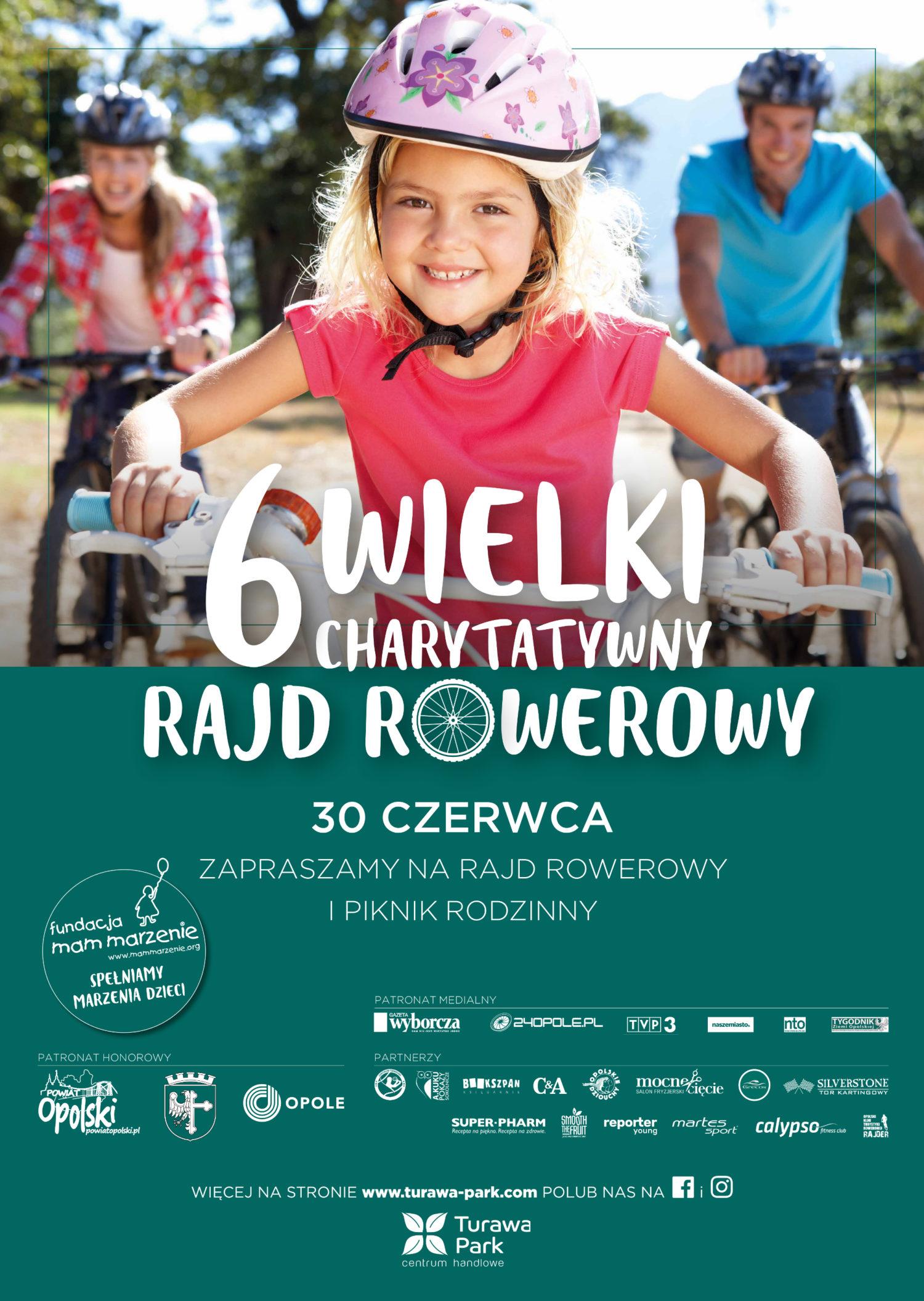 6 Wielki Charytatywny Rajd Rowerowy odbędzie się w sobotę (30.06) w Opolu