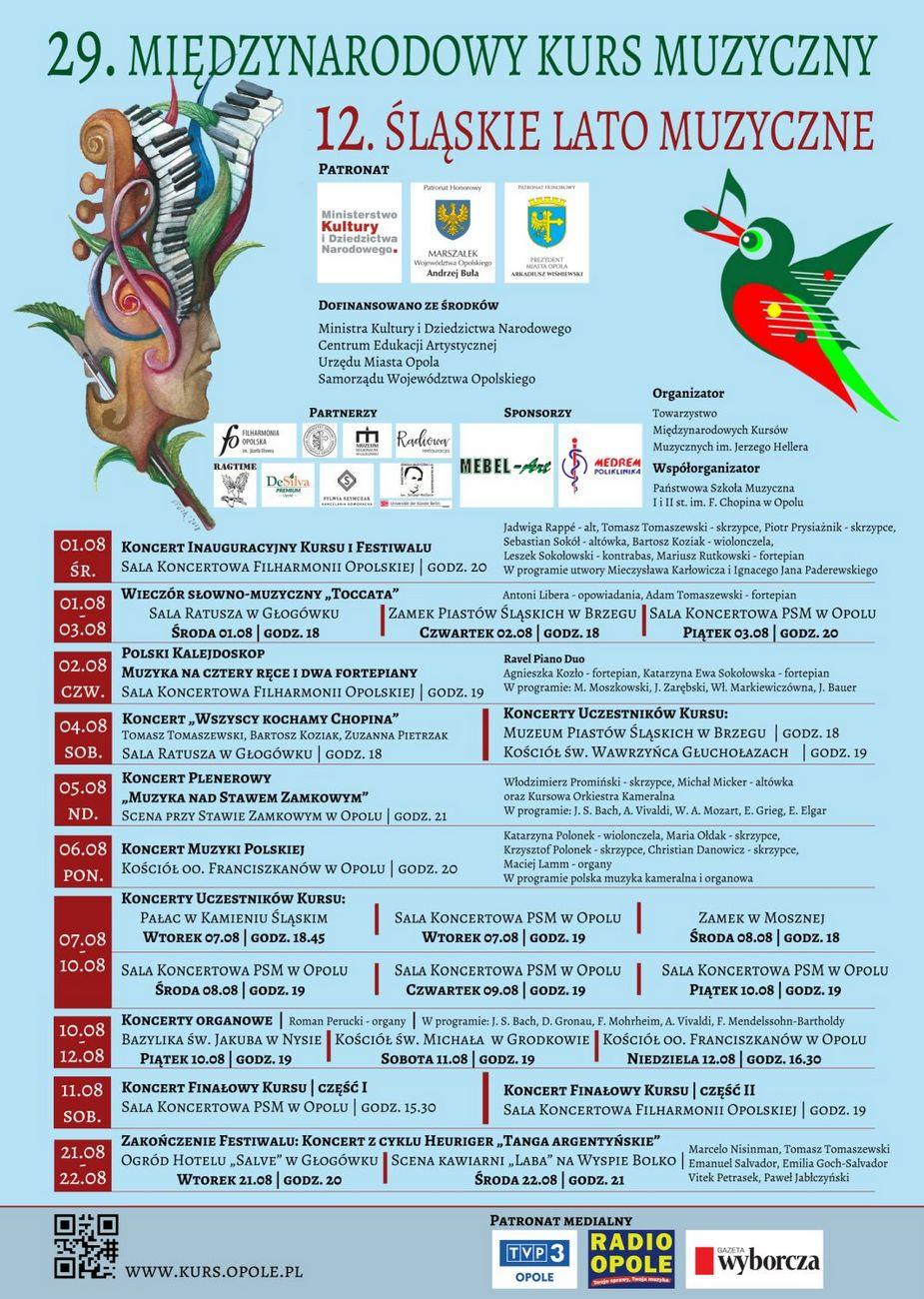 """Czas na 29. Międzynarodowy Kurs Muzyczny oraz XII Festiwal """"Śląskie Lato Muzyczne"""" – poznaj harmonogram koncertów! [materiały organizatora]"""