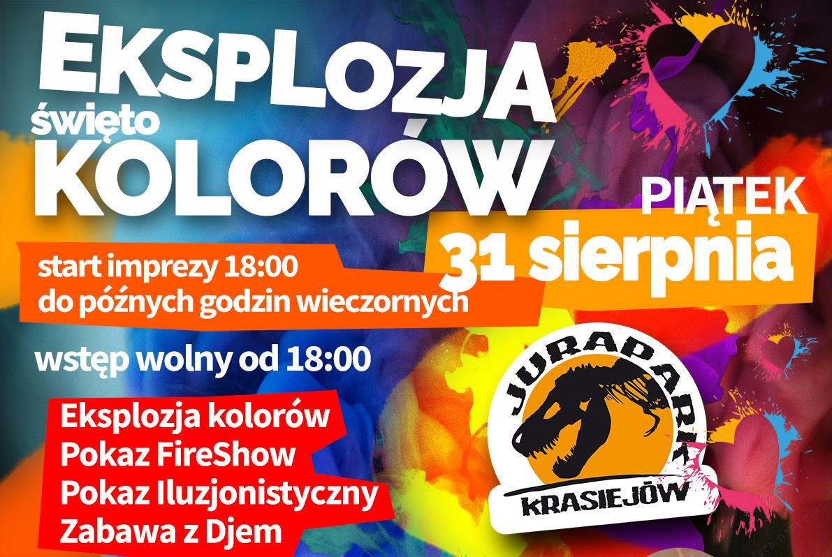 JuraPark w Krasiejowie wakacje pożegna eksplozją kolorów