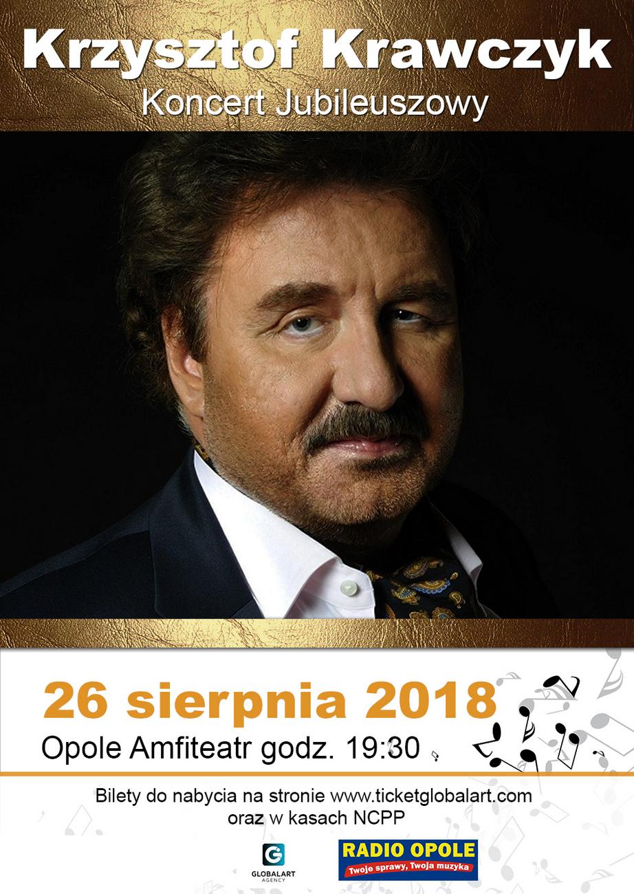 Koncert Krzysztofa Krawczyka odbędzie się 26 sierpnia w Opolu