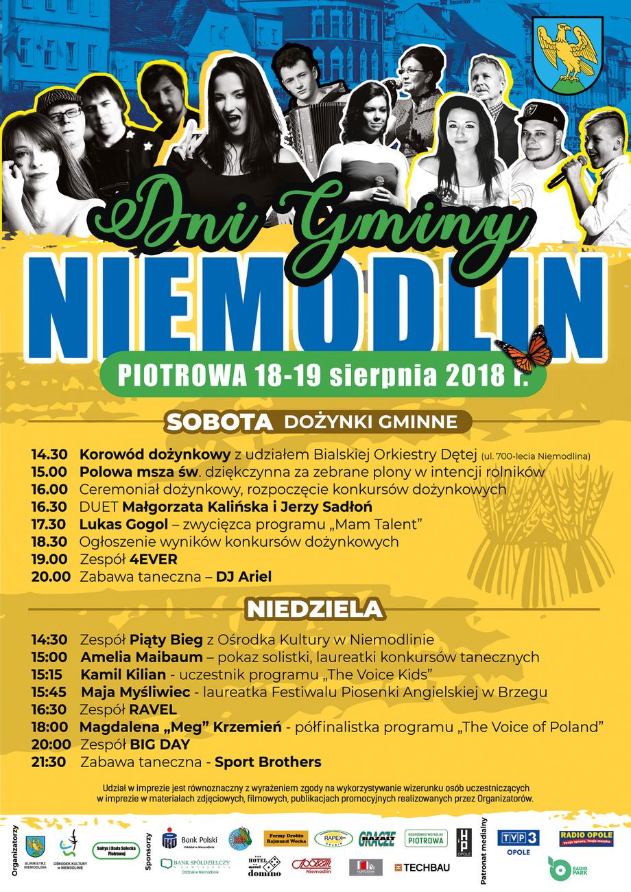 Plakat Dni Gminy Niemodlin 2018