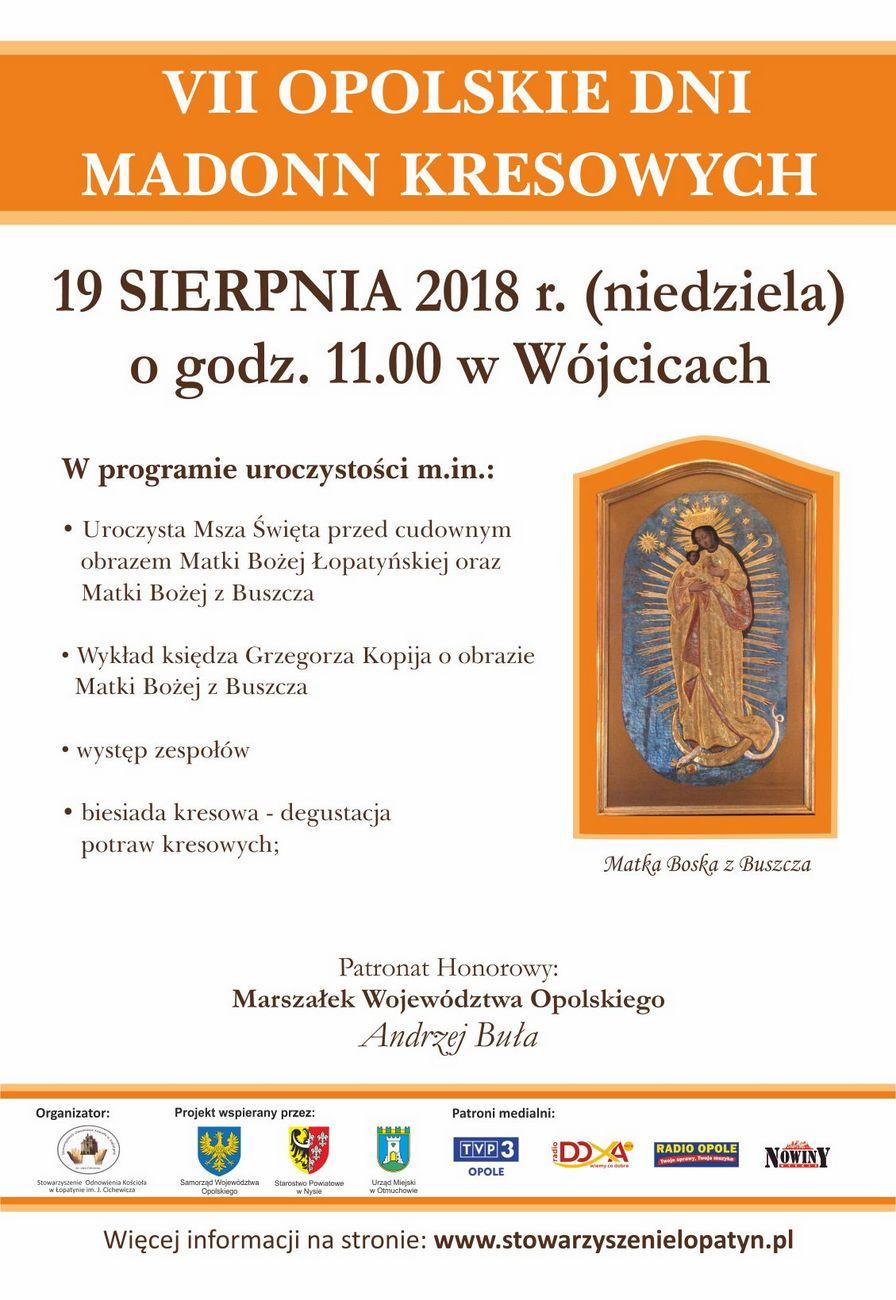 VII Opolskie Dni Madonn Kresowych odbędą się w niedzielę w Wójcicach