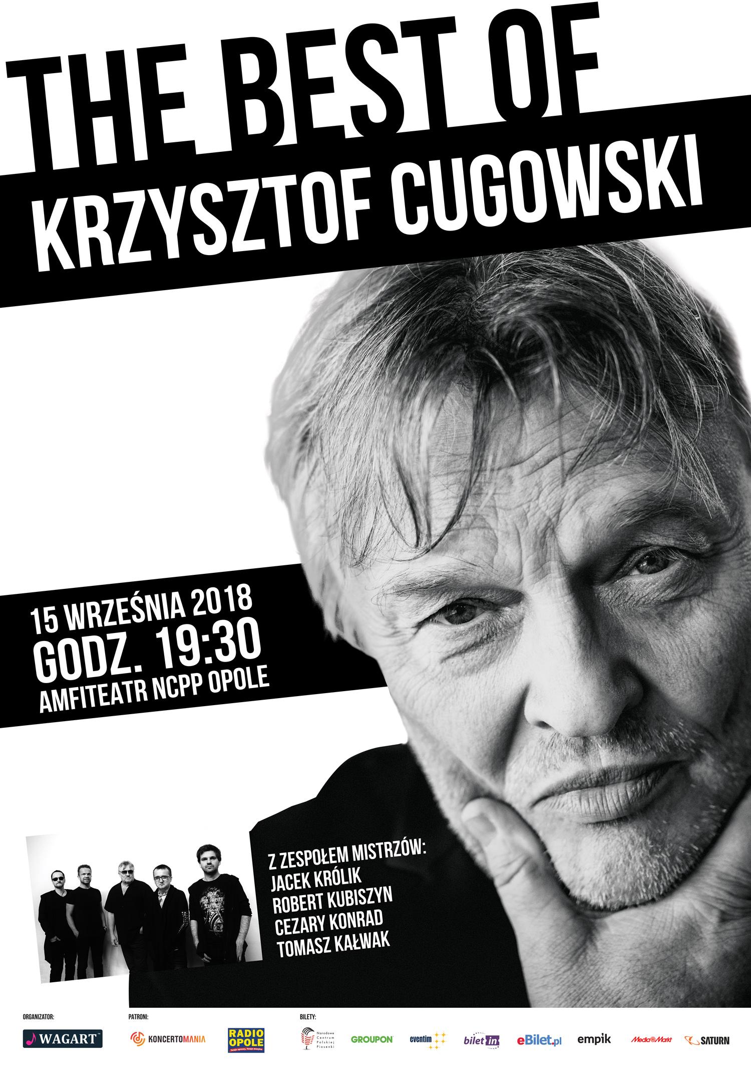 Legendarny frontman Budki Suflera Krzysztof Cugowski z zespołem Mistrzów z koncertem w amfiteatrze!