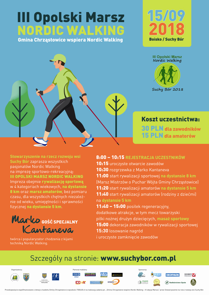 Twórca nordic walking odwiedzi w niedzielę Opole, a w sobotę będzie gościem specjalnym III Opolskiego Marszu Nordic Walking