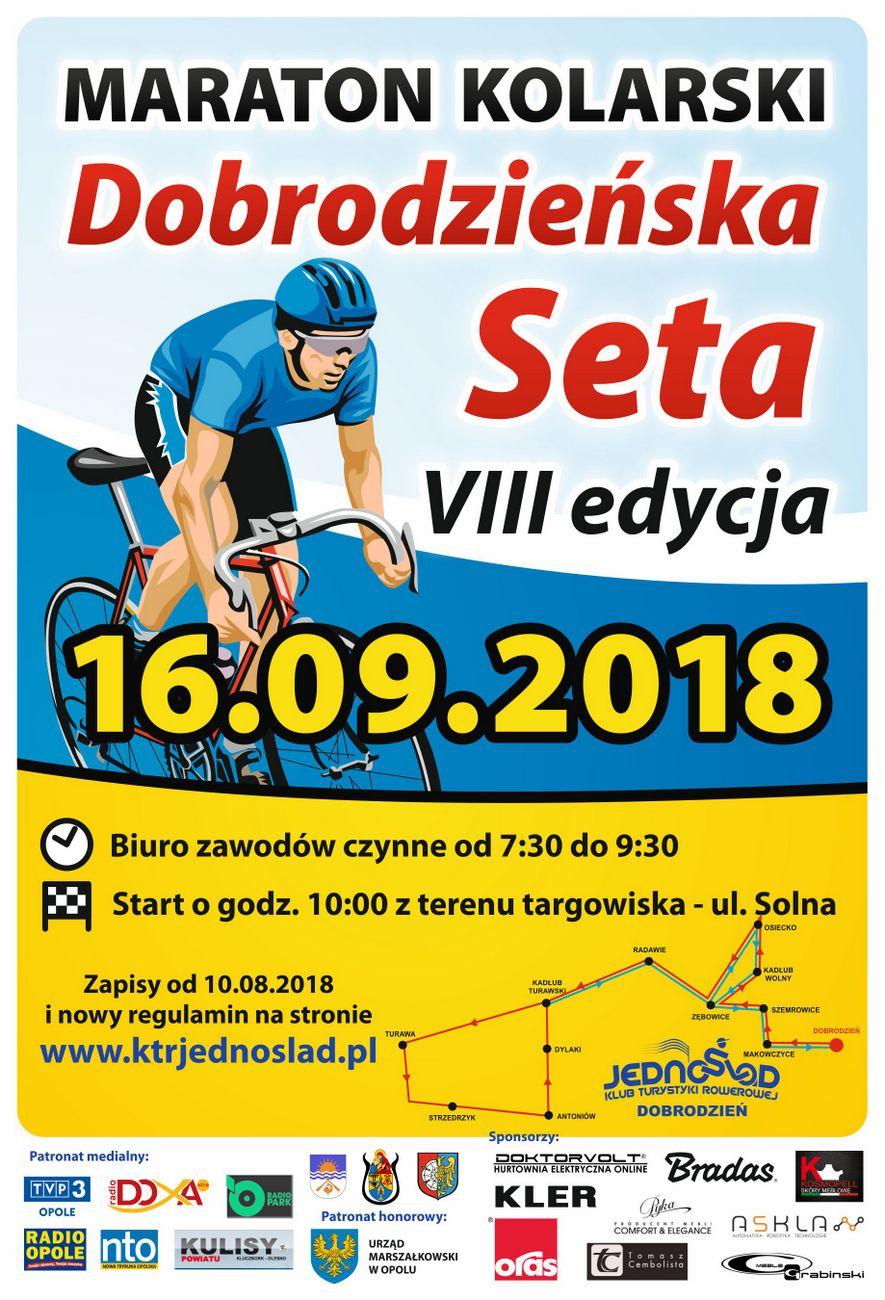 """VII Maraton Kolarski """"Dobrodzieńska Seta"""" wystartuje w niedzielę"""