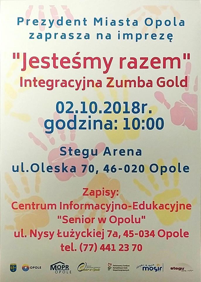 """Integracyjna Zumba Gold """"Jesteśmy razem"""" już we wtorek – dowiedz się więcej! [materiały organizatora]"""
