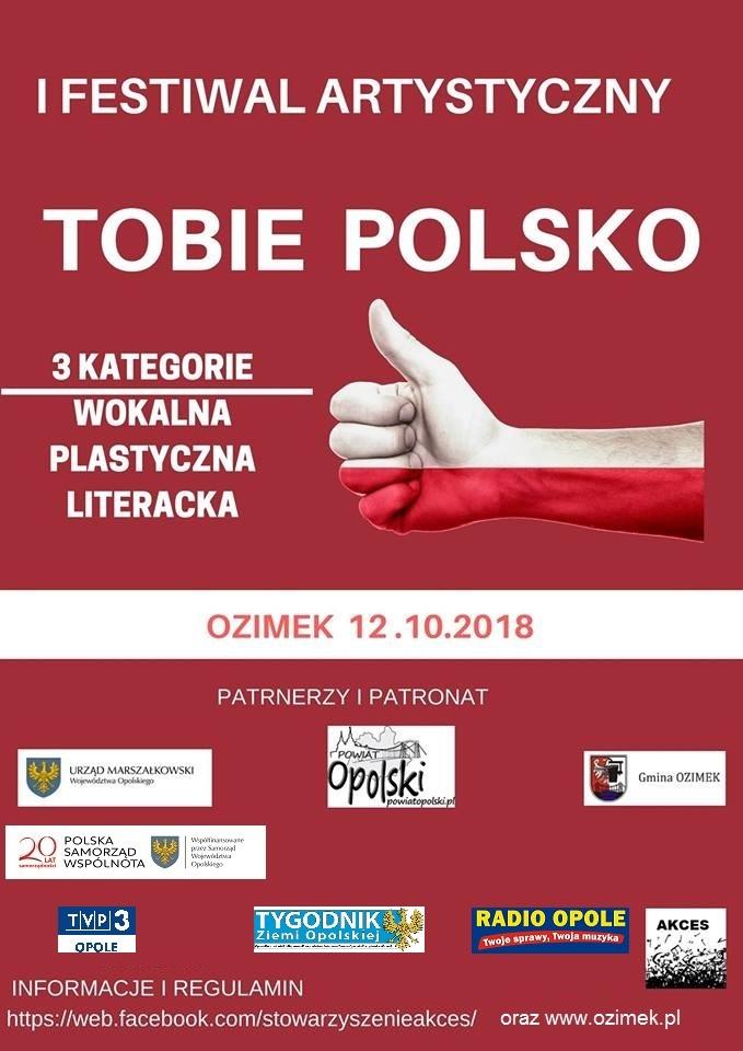 """I Festiwal Artystyczny """"Tobie Polsko"""" – finał już w piątek! [materiały organizatora]"""