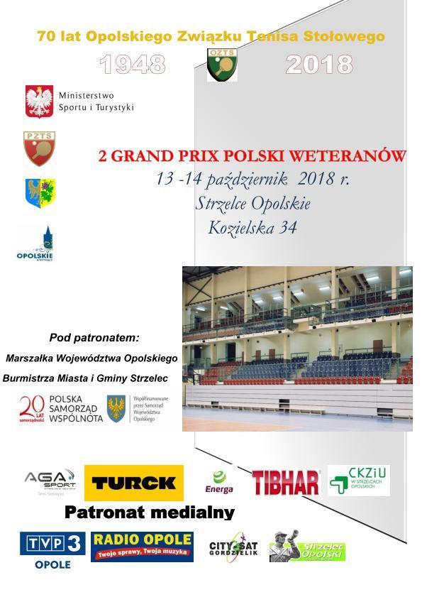 Weterani w tenisie stołowym zmierzą się w Strzelcach Opolskich już w ten weekend! [materiały organizatora]