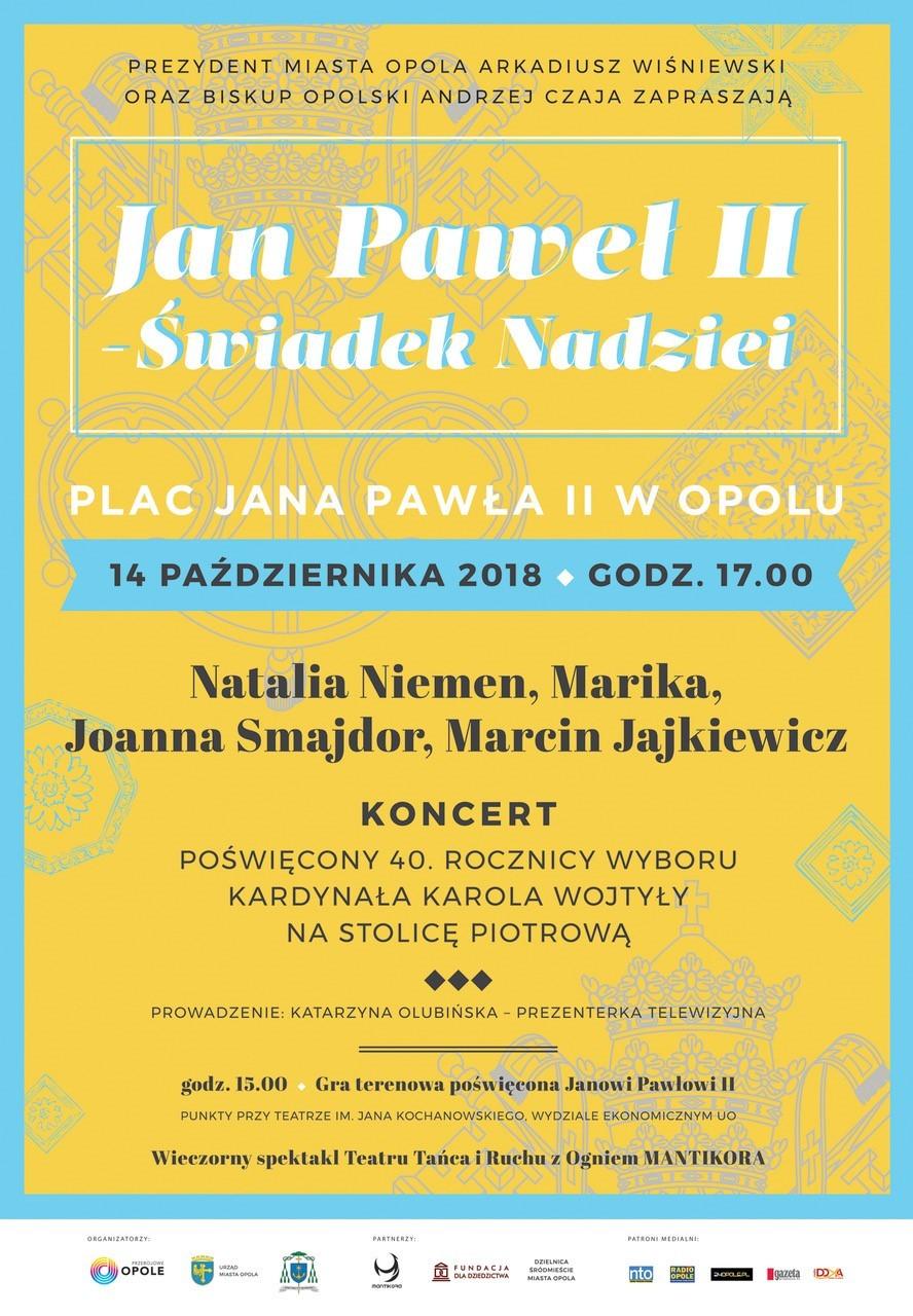 """Koncert """"Jan Paweł II – Świadek Nadziei"""" już w niedzielę! [materiały organizatora]"""
