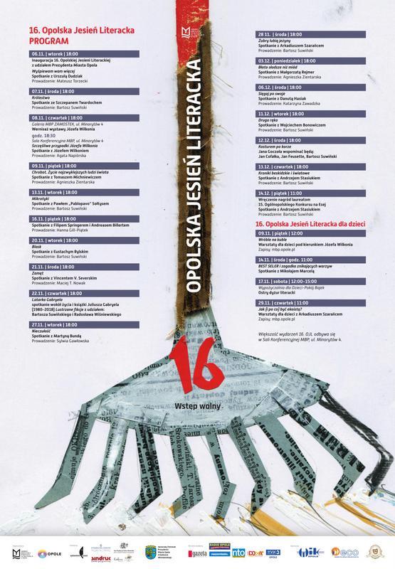Opolska Jesień Literacka potrwa w Opolu od 6 listopada do 14 grudnia