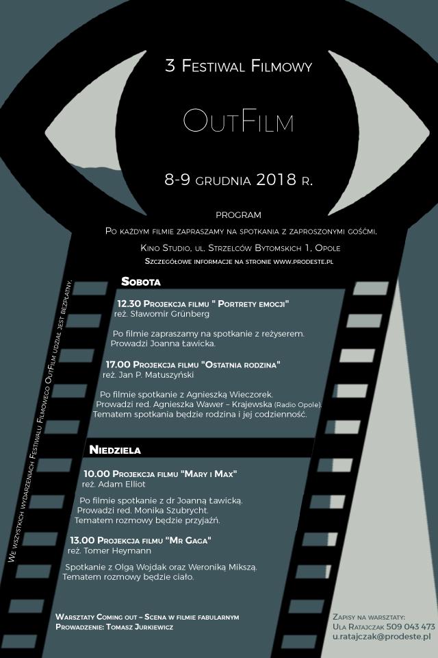 Już po raz trzeci Fundacja Prodeste zaprasza na Festiwal Filmowy OutFilm