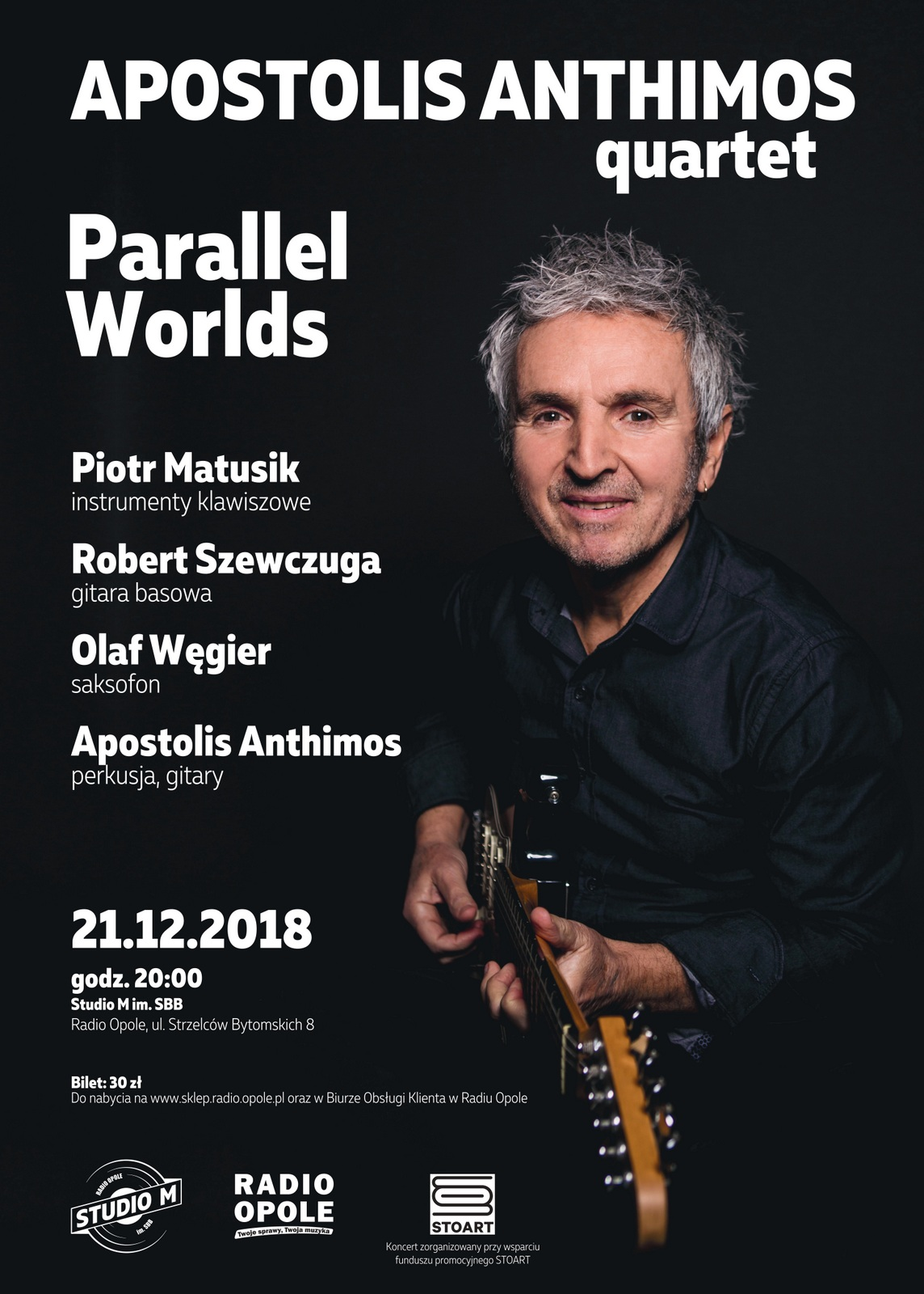 Wyjątkowy koncert promujący nową solową płytę Apostolisa Anthimosa już 21 grudnia w Studiu M im. SBB
