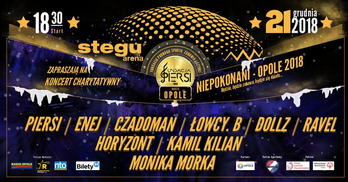 """Niepokonani-Opole 2018 – przyjdź na koncert do Stegu Areny już 21 grudnia. """"Będzie zabawa, będzie się działo""""!"""