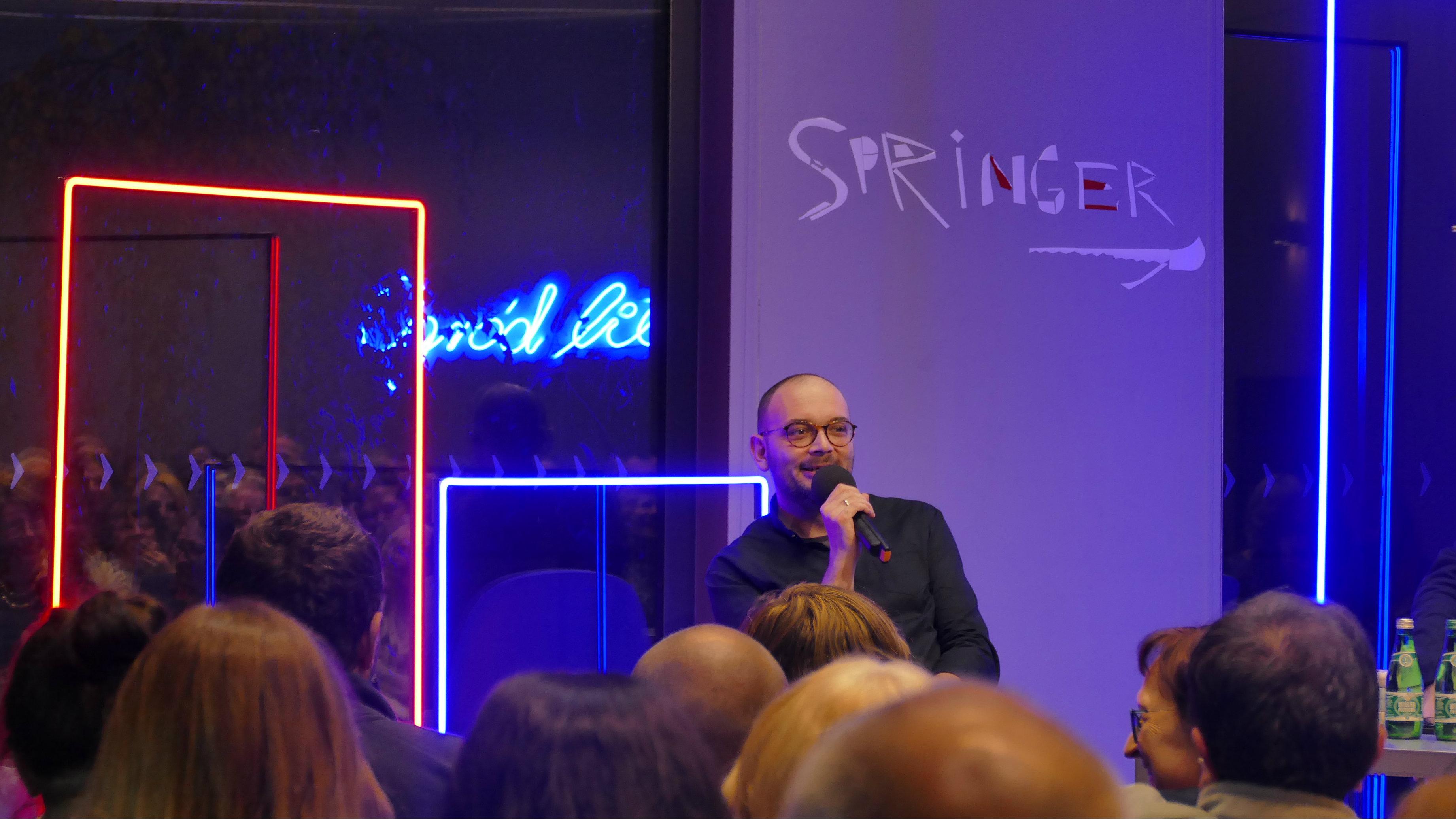 Spotkanie autorskie z Filipem Springerem w MBP w Opolu © [fot. Małgorzata Ślusarczyk]