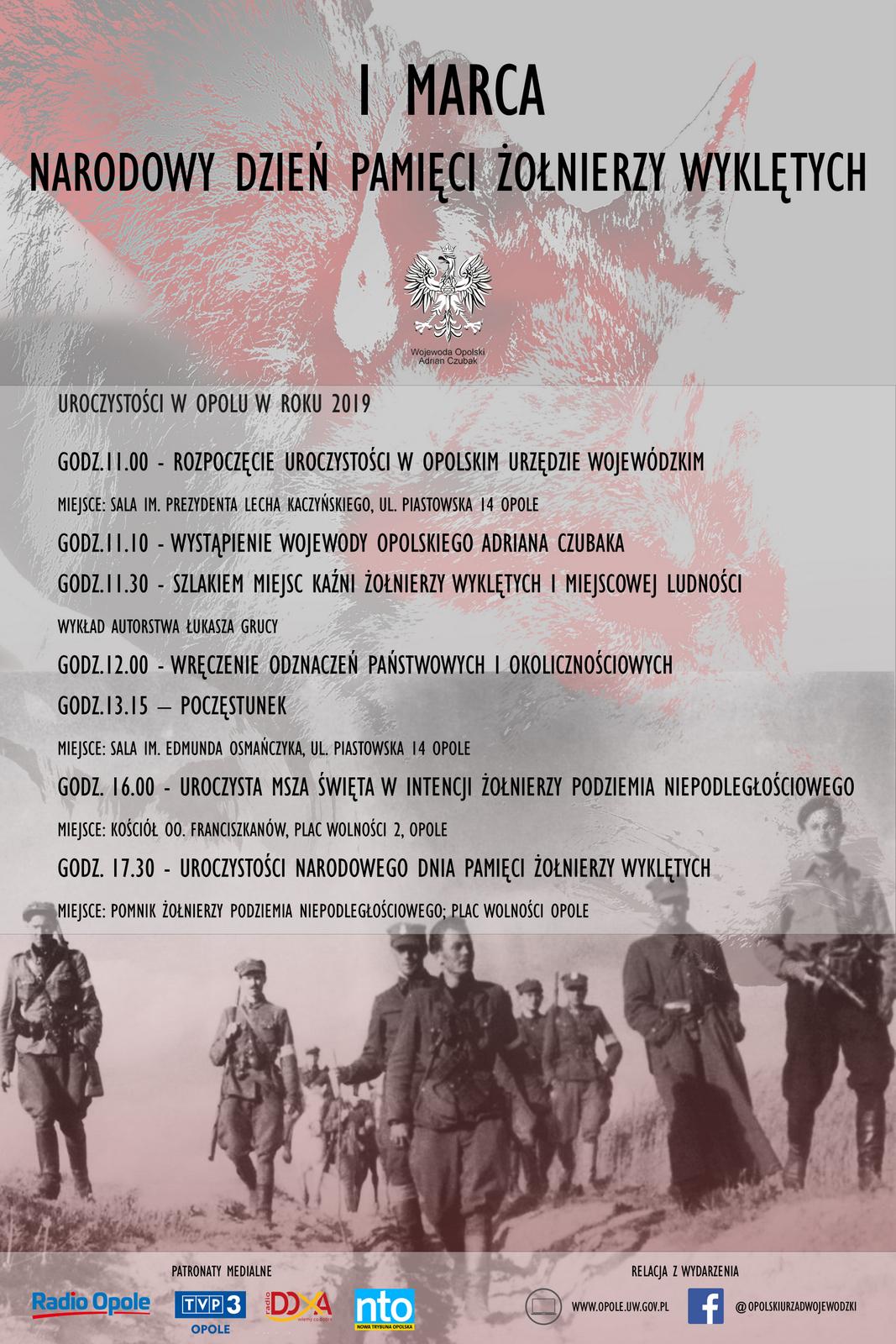 Narodowy Dzień Pamięci Żołnierzy Wyklętych zostanie uczczony w Opolu