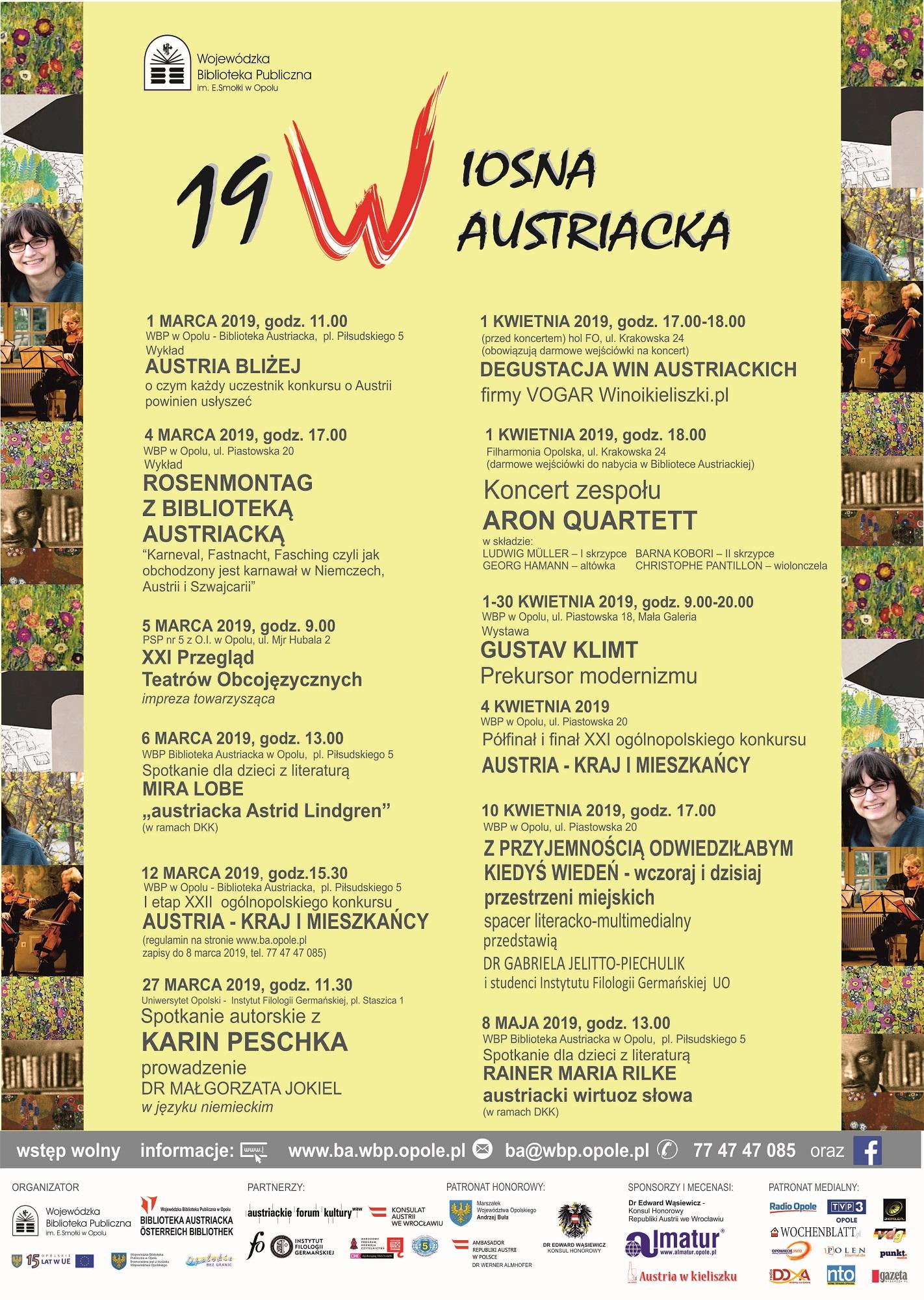 Plakat 19. Wiosny Austriackiej [materiały organizatora]
