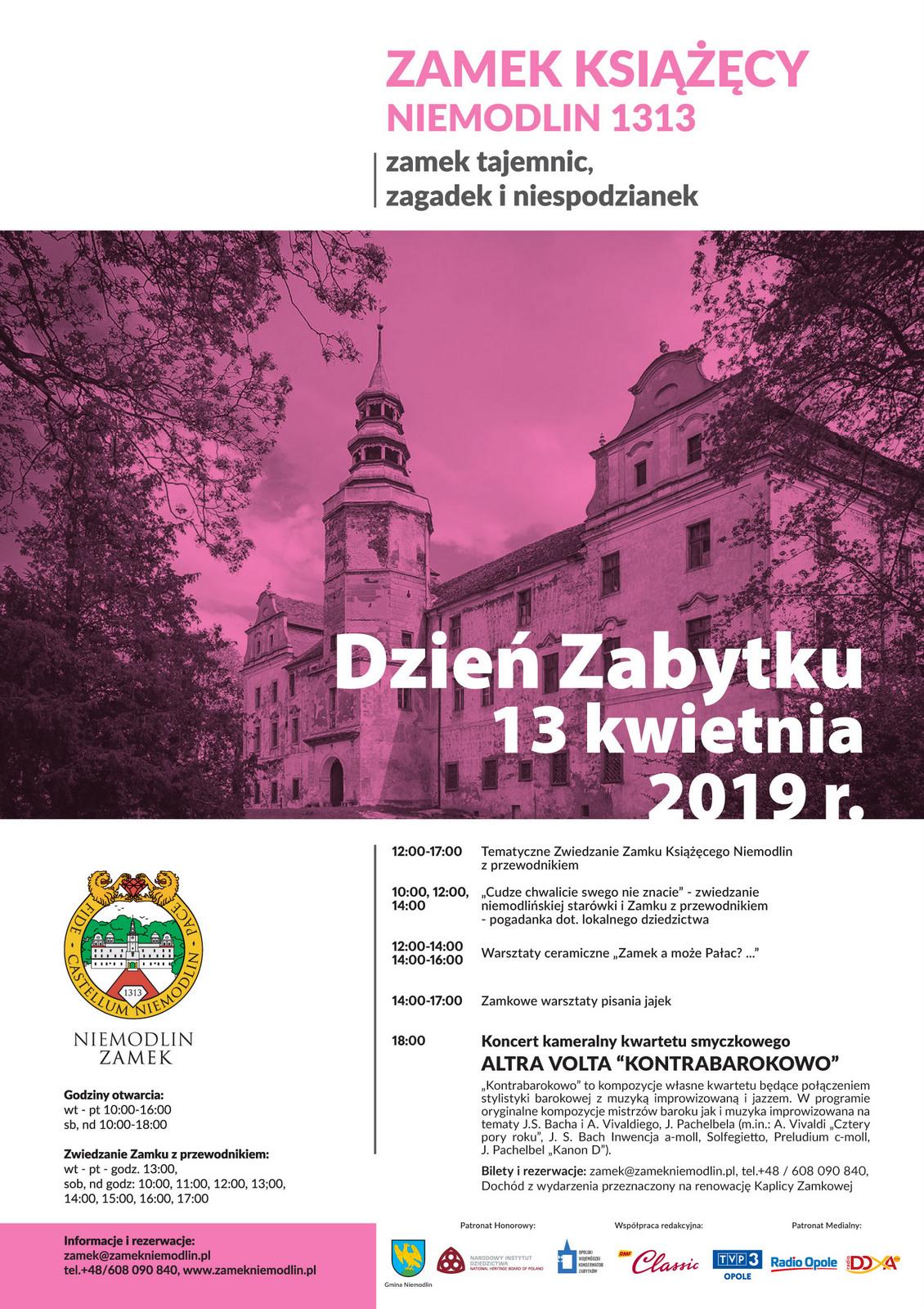 W sobotę warto odwiedzić Zamek w Niemodlinie i uczcić Dzień Zabytku!