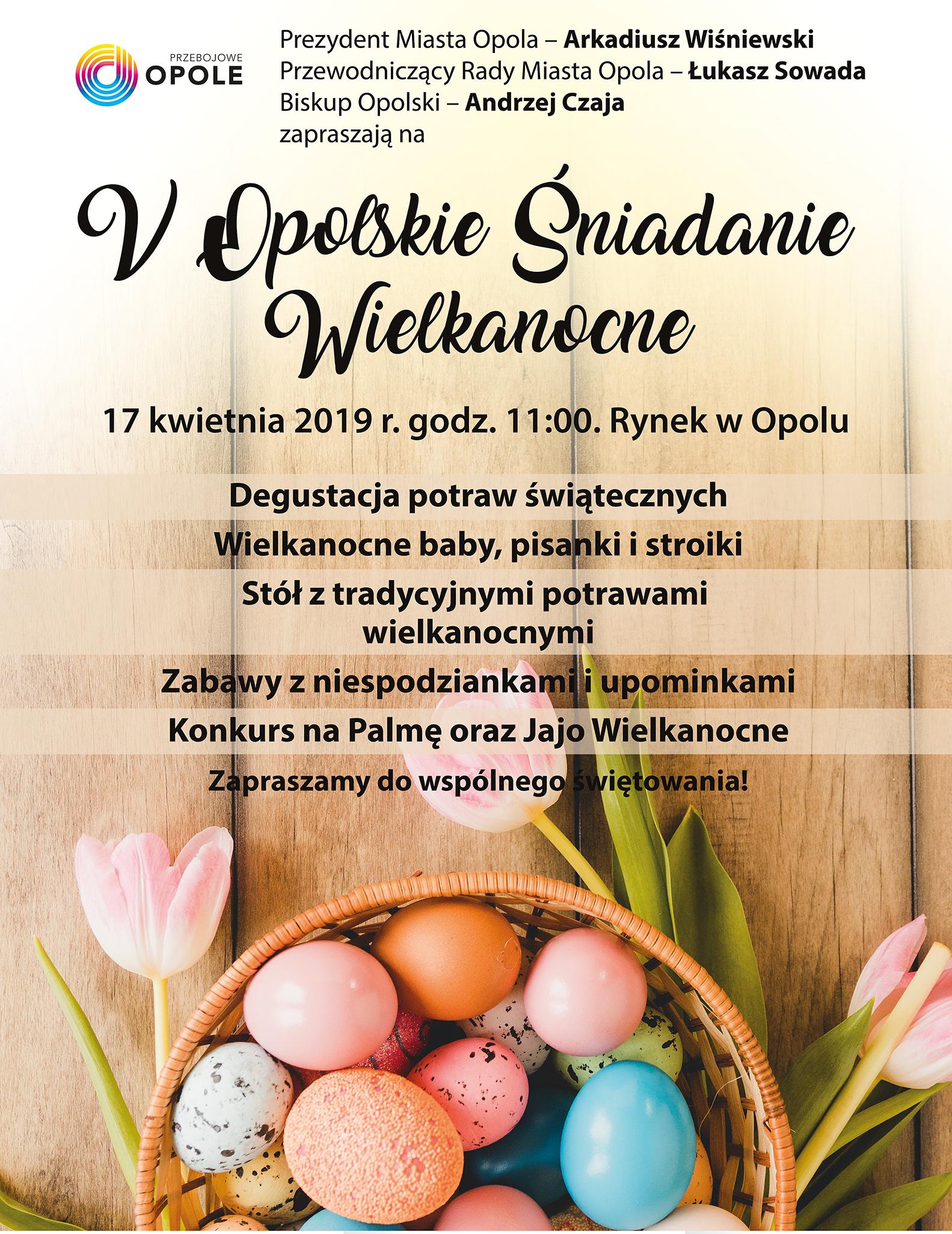 V Śniadanie Wielkanocne na Rynku w Opolu już 17 kwietnia [fot. Justyna Marcińska]
