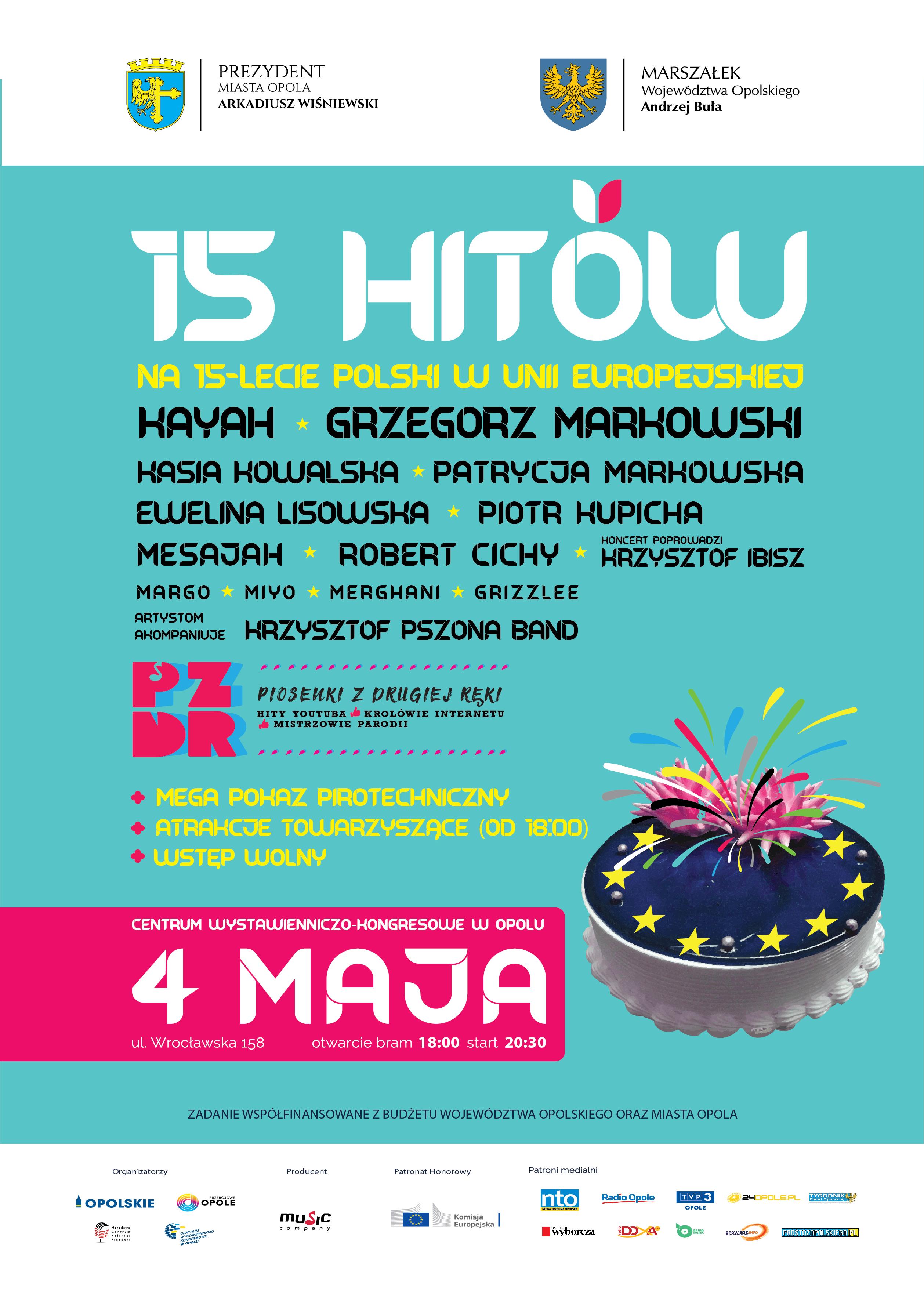 Opole będzie hucznie świętować 15-lecie Polski w Unii Europejskiej. Szykuje się wielki koncert przy CWK