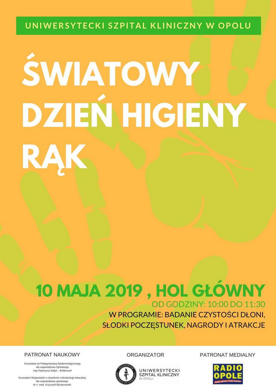Światowy Dzień Higieny Rąk – sprawdź, co z tej okazji szykuje USK w Opolu! [materiały organizatora]