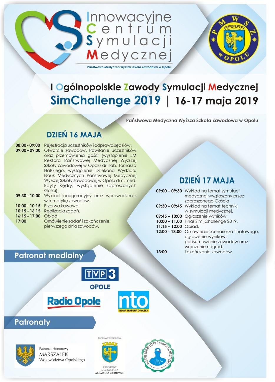 Zbliżają się I Ogólnopolskie Zawody Symulacji Medycznej SimChallenge 2019 – poznaj szczegóły! [materiały organizatora]