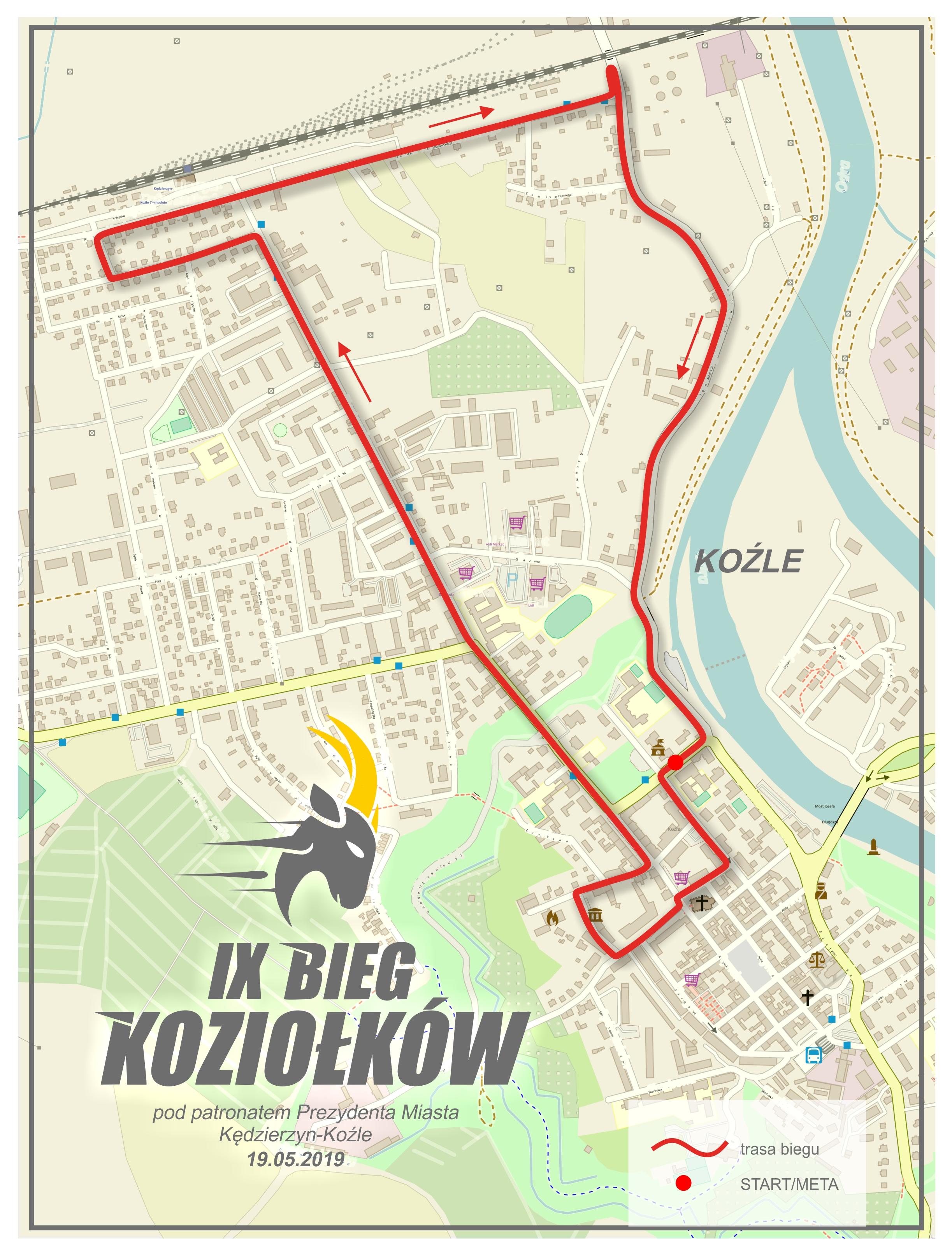 Trasa IX Biegu Koziołków