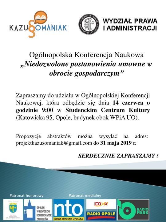 Studiujesz prawo? Jeszcze do piątku (31.05) możesz zgłosić swój udział w Ogólnopolskiej Konferencji Naukowej! [materiały organizatora]