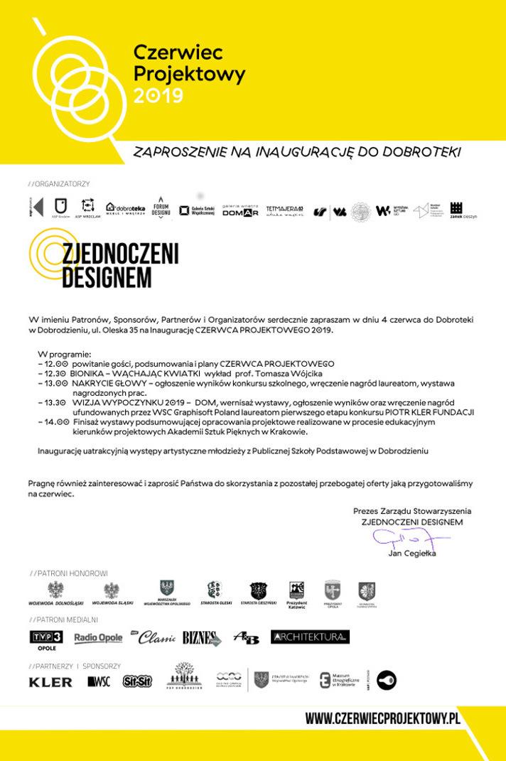 zaproszenie Czerwiec Projektowy 2019