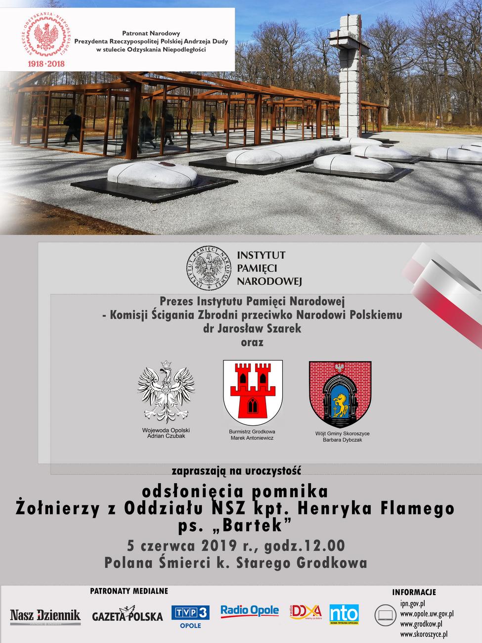 Odsłonięcie pomnika ku pamięci żołnierzy kpt. Henryka Flamego