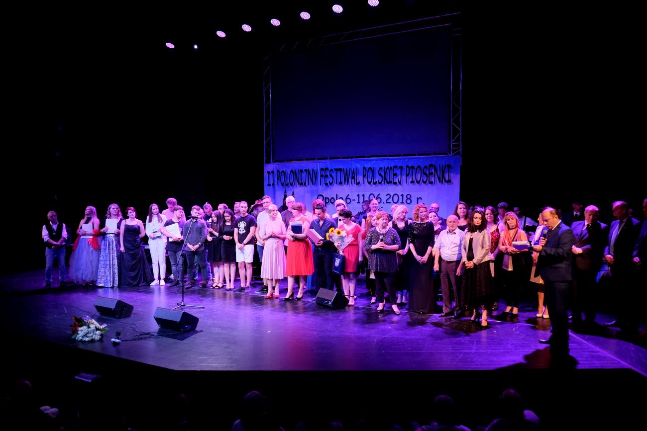 Koncert finałowy II Polonijnego Festiwalu Polskiej Piosenki [fot. Wanda Kownacka]