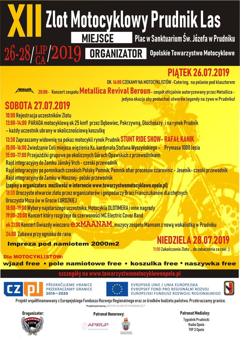 XII Zlot Motocyklowy Prudnik Las już w weekend – też tam będziemy! [materiały organizatora]