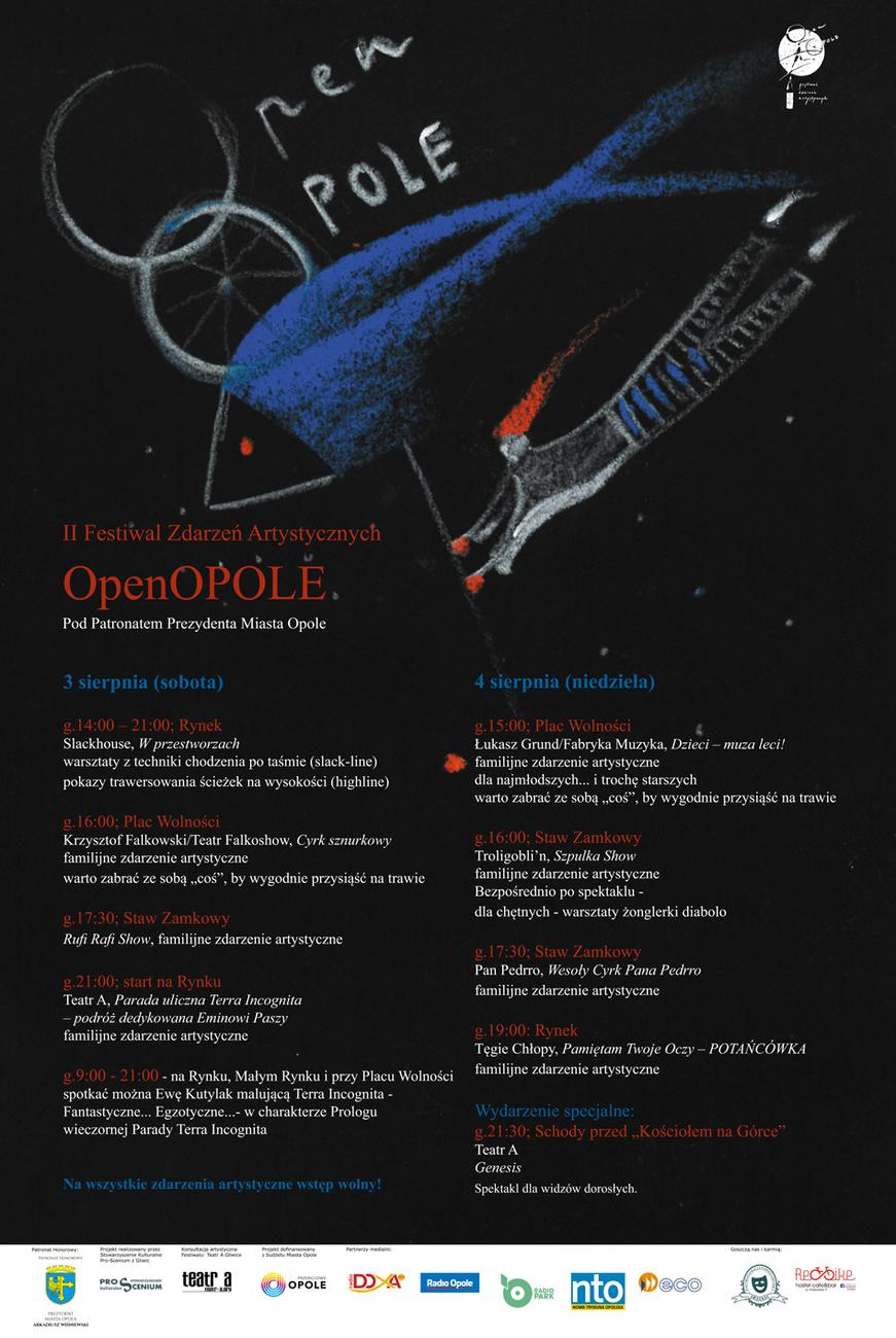 Centrum Opola znów zapełni się artystami – przed nami II Festiwal Zdarzeń Artystycznych OpenOpole! [materiały organizatora]