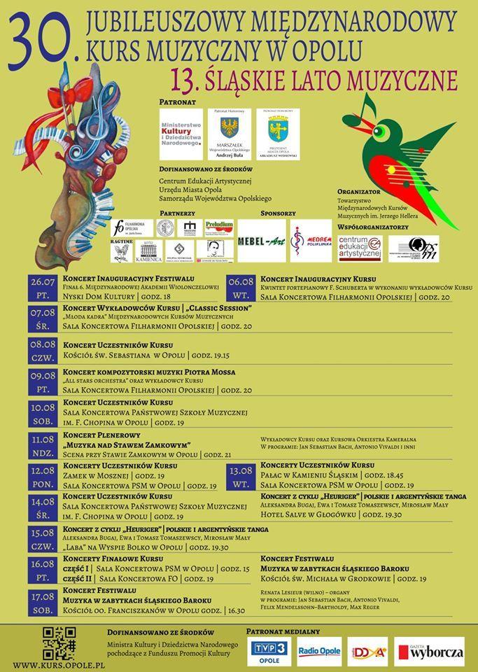 """Czas na 30. Jubileuszowy Międzynarodowy Kurs Muzyczny oraz XIII Festiwal """"Śląskie Lato Muzyczne"""" – poznaj harmonogram koncertów! [materiały organizatora]"""