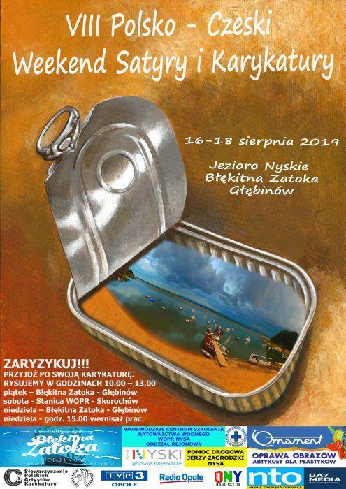 Zaryzykuj i przyjdź po swoją karykaturę – przed nami VIII Polsko-Czeski Weekend Satyry i Karykatury nad Jeziorem Nyskim! [materiały organizatora]