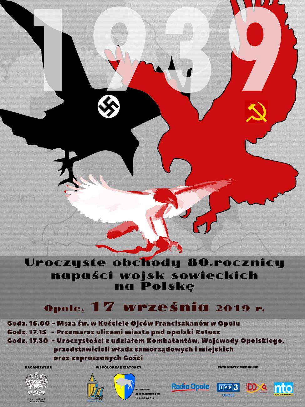 Opolanie upamiętnią 80. rocznicę napaści wojsk sowieckich na Polskę – poznaj szczegóły! [materiały organizatora]