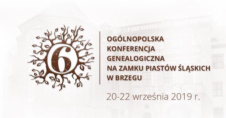 Genealodzy z całej Polski po raz kolejny spotkają się w Brzegu - zbliża się 6. Ogólnopolska Konferencja Genealogiczna [materiały organizatora]