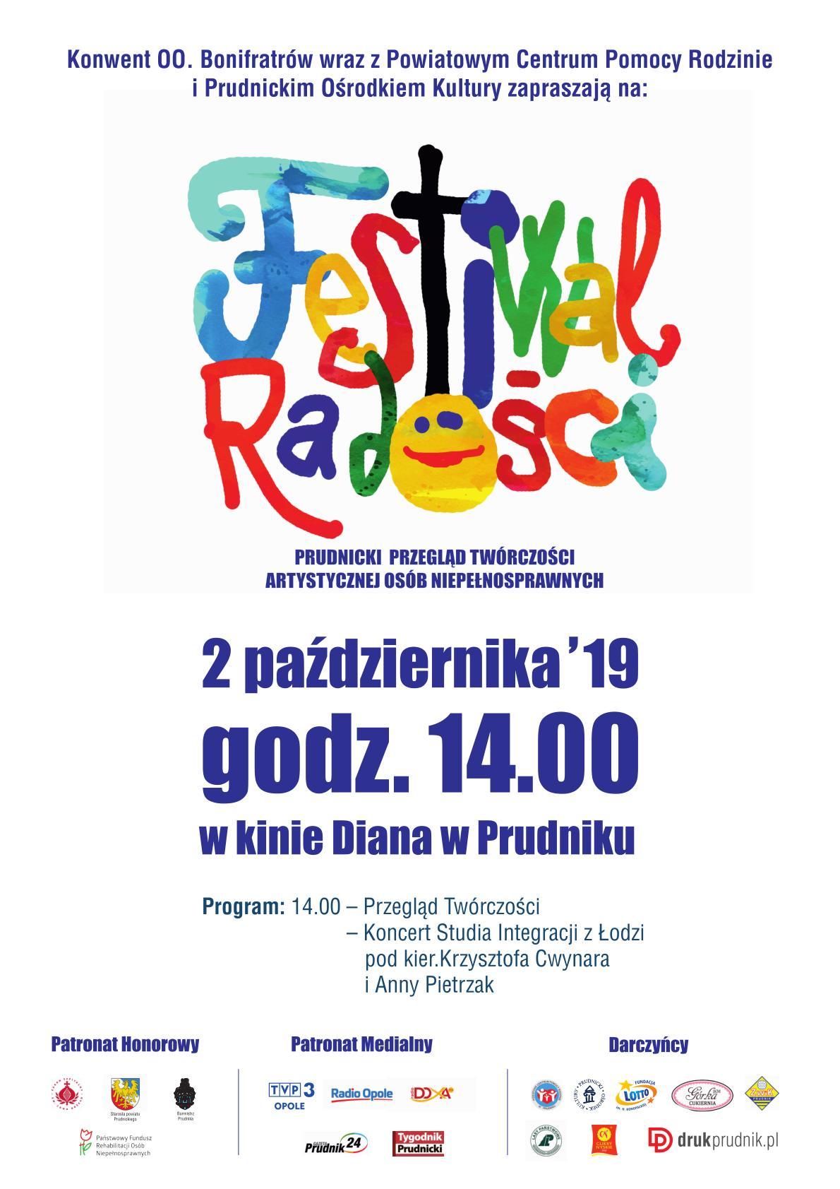 Osoby niepełnosprawne zaprezentują swoją twórczość w Prudniku – przed nami I Festiwal Radości! [materiały organizatora]