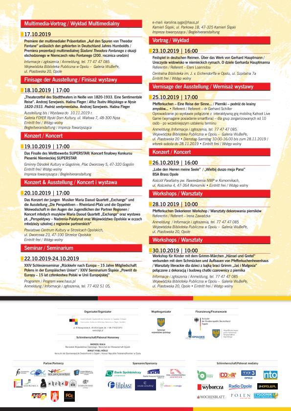 16. Dni Kultury Niemieckiej na Śląsku Opolskim – poznaj program! [materiały organizatora]