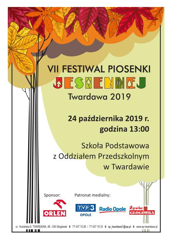 VII Festiwal Piosenki Jesiennej Przedszkolaka w Twardawie już w czwartek! [materiały organizatora]