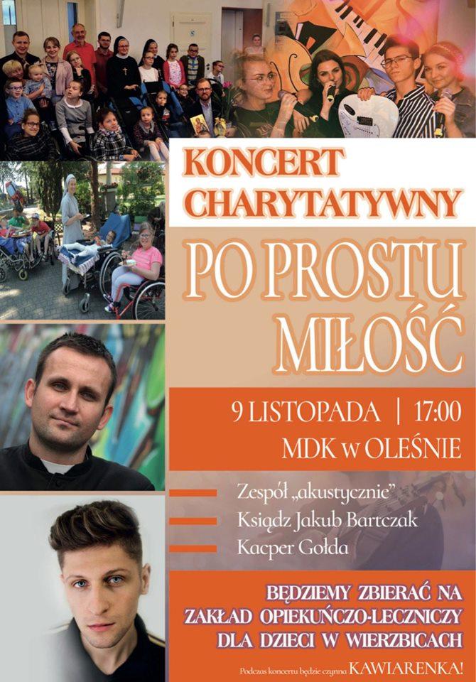 """Koncert charytatywny """"Po prostu miłość"""" już w sobotę – poznaj szczegóły i przyjdź! [materiały organizatora]"""