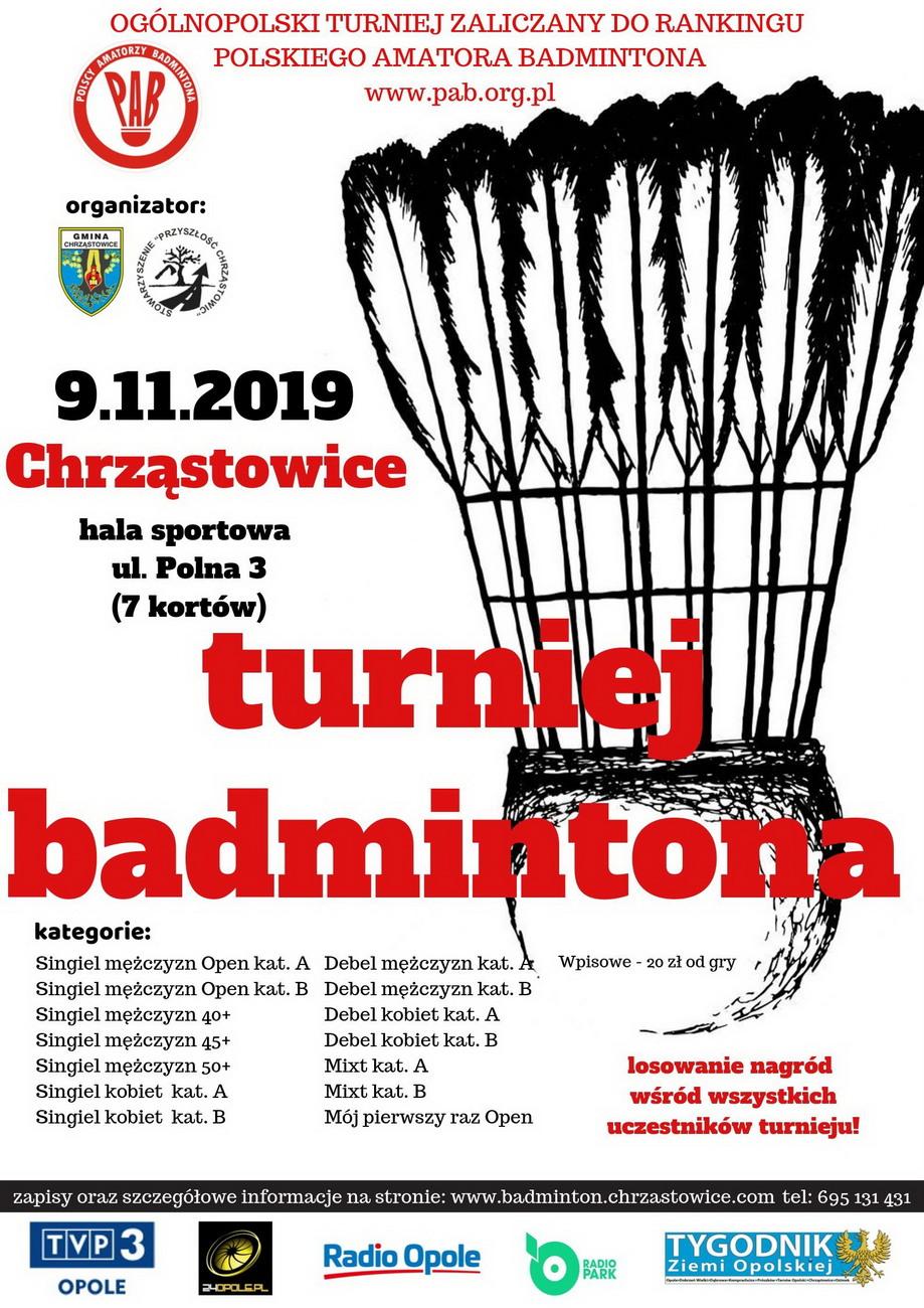 III Turniej Badmintona w Chrząstowicach już w sobotę – trwają zapisy! [materiały organizatora]