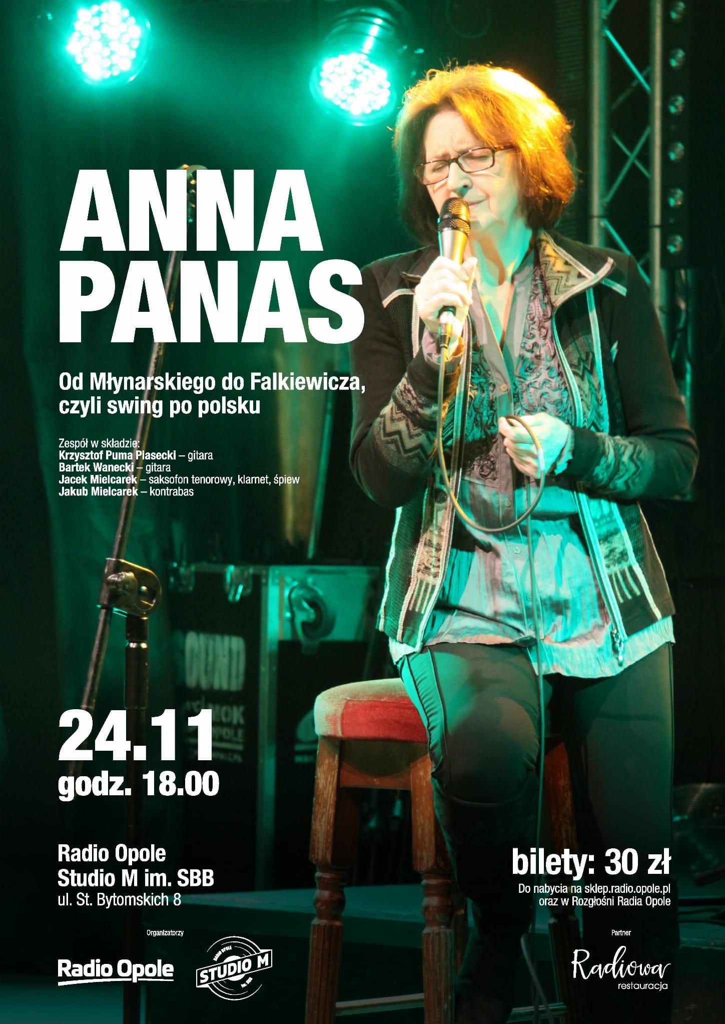 Koncert Anny Panas w Studiu M im. SBB