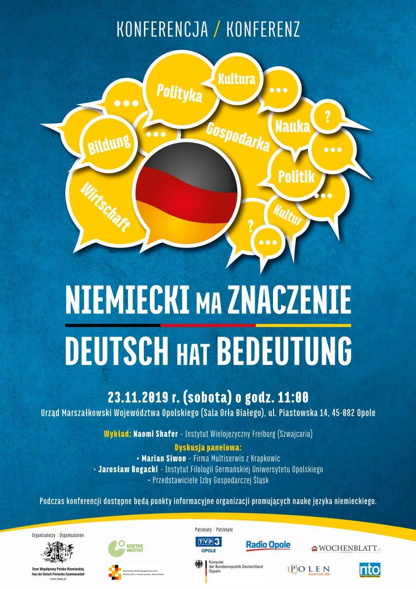 Niemiecki ma znaczenie - plakat