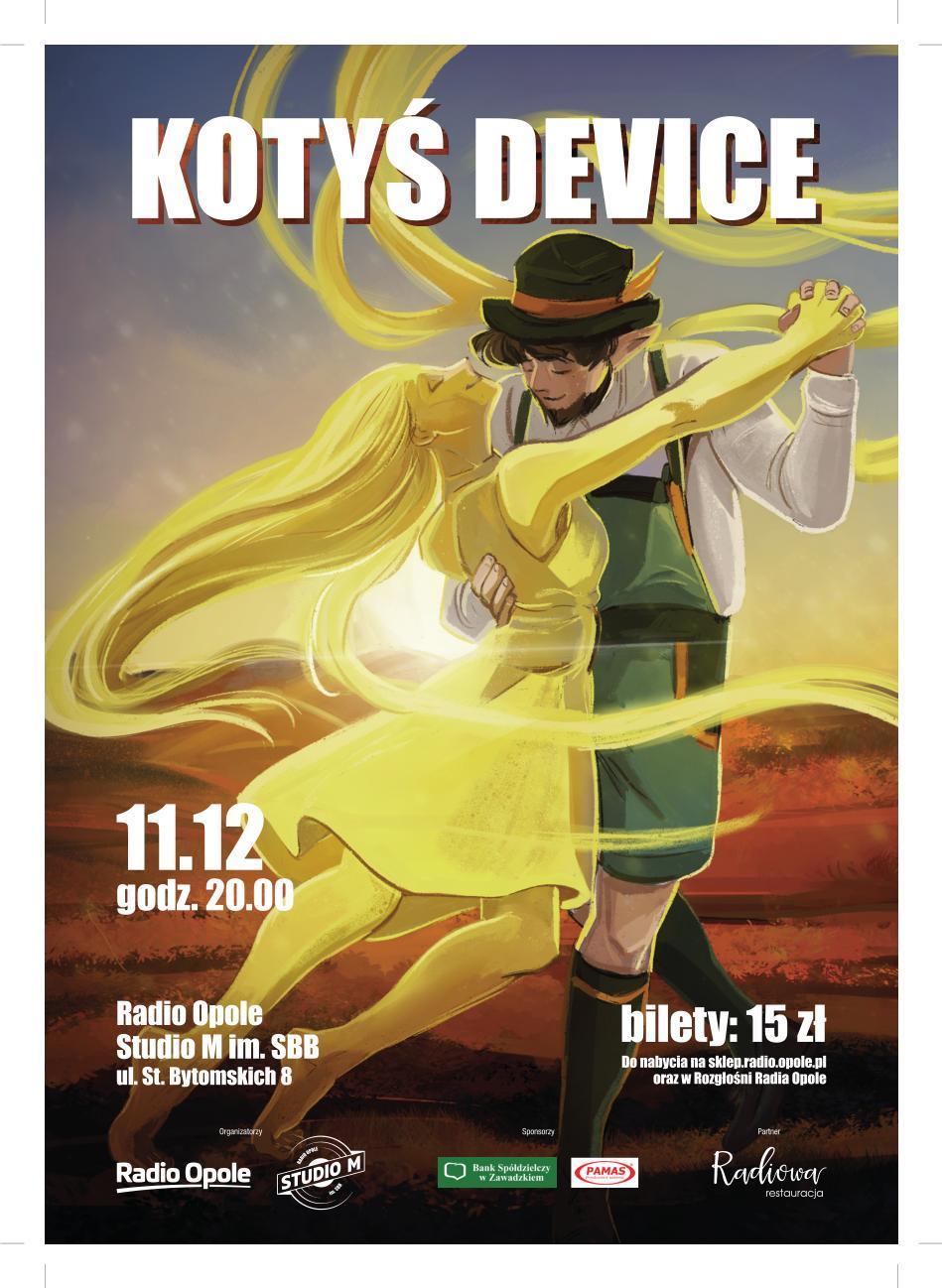 Kotyś Device – koncert na 10-lecie istnienia zespołu już 11 grudnia w Studiu M im. SBB